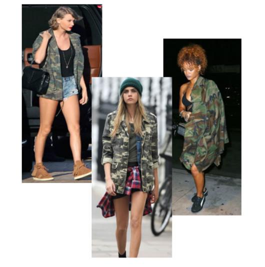 3f1c8cfe95c4 Army štýl obliekania obľubujú aj svetové celebrity - Rihanna či Taylor  Swift.