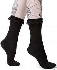 ponožky KILLSTAR - CRUELLA - BLACK - KSRA000168