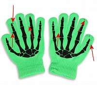 rukavice POIZEN INDUSTRIES - BGG - N.Green - POŠKODENÉ - MA072