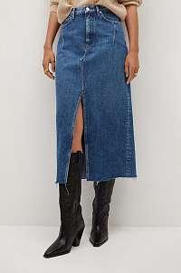 Mango - Rifľová sukňa Denim70