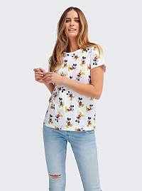 Alcott biele dámske tričko Mickey Mouse