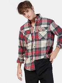 Alcott bielo-červená pánska károvaná košeľa