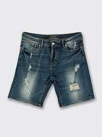 Alcott tmavomodré džínsové pánske kraťasy