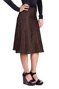 Anany čierno-bronzová trblietavá sukňa Marbella Dorado