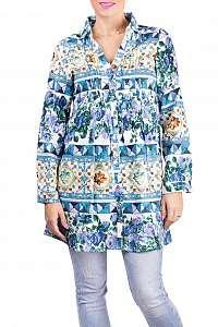 Anany farebné košeľové šaty Badalona Azul