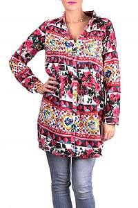 Anany farebné košeľové šaty Badalona Rojo
