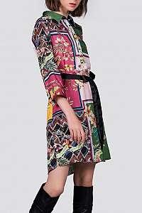 Anany farebné košeľové šaty Madrid Verde