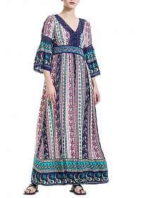 Anany farebné maxi šaty Salvador