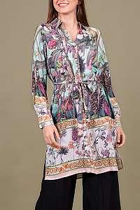 Anany kvetinové košeľové šaty Barcelona Beige