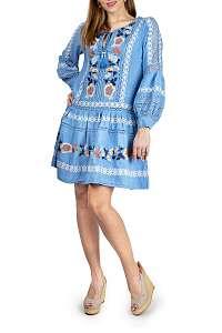 Anany modré šaty Puebla