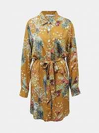 Anany oranžové košeľové šaty Cora Amarillo