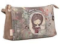 Anekke béžové listová kabelka Jane