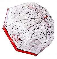 Anekke červené palicový dáždnik Couture