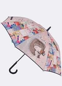 Anekke modrý palicový dáždnik India