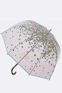 Anekke zelený priehľadný palicový dáždnik Jane