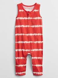 Baby overal tie-dye one-piece Červená