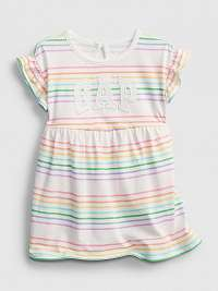 Baby šaty GAP Logo arch dress Farebná