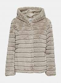 Béžová bunda s umelou kožušinkou Jacqueline de Yong Emily