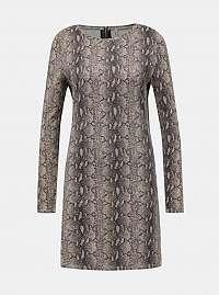 Béžové šaty s hadím vzorom Haily´s Cora