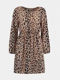 Béžové šaty s leopardím vzorom Haily´s