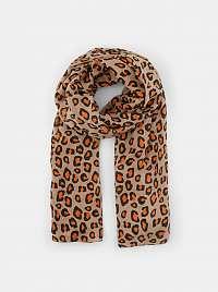 Béžový šatka s leopardím vzorom Pieces Avonja