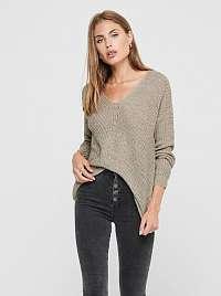 Béžový sveter Jacqueline de Yong