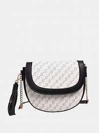 Biela vzorovaná crossbody kabelka Bessie London
