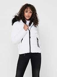 Biela zimná prešívaná bunda ONLY