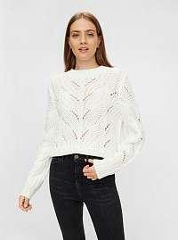 Biely sveter Pieces Rachel