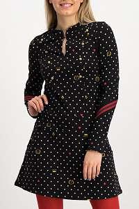 Blutsgeschwister čierne bodkované šaty Tiny March Dress Kingly Souvenirs