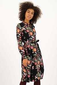 Blutsgeschwister čierne košeľové šaty Heart Full of Joy Dress Fall Finch