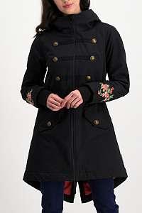 Blutsgeschwister čierny kabát Dorothy Souvenir Parka Black Twister - L