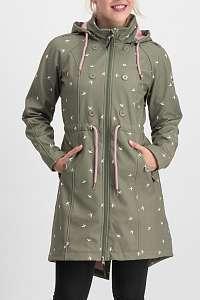 Blutsgeschwister khaki softshellový kabát Swallowtail Promenade Coat Snow Swallow - XXL