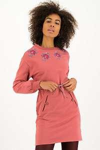 Blutsgeschwister ružové mikinové šaty Boho Sneaker Dress Dusty Rosewood