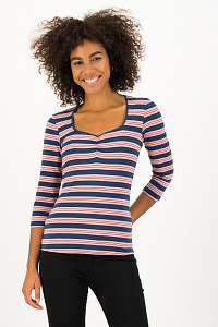 Blutsgeschwister tričko Majolica Blue Stripes