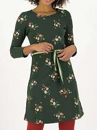 Blutsgeschwister zelené kvetované šaty Très Charmeuse