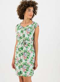 Blutsgeschwister zelené letné šaty s kvetinami