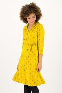 Blutsgeschwister žlté šaty Apres Ski