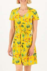 Blutsgeschwister žlté šaty Fairy in The Garden Let Love Grow