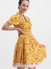 Blutsgeschwister žlté šaty Sweet Mariandl