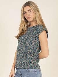 Brakeburn modré tričko s kvetinovým motívom