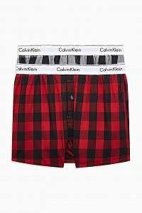 Calvin Klein 2 pack kockovaných pánskych trenírok 2P Slim Fit Boxer