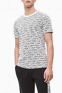 Calvin Klein biele pánske tričko S/S Crew Neck - S