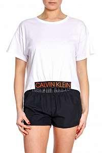 Calvin Klein biele tričko Cropped Tee PVH White - XL
