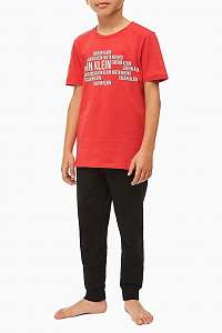 Calvin Klein červené chlapčenské tričko Tee