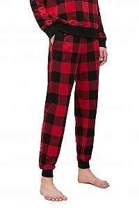 Calvin Klein červené kockované dámske tepláky Jogger