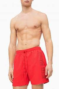 Calvin Klein červené pánske plavky Medium Drawstring s logom - XXL