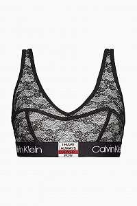 Calvin Klein čierna čipkovaná podprsenka Unlined Bralette