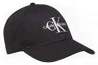 Calvin Klein čierna šiltovka CKJ Monogram s logom