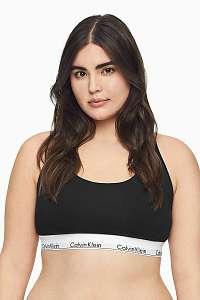 Calvin Klein čierna športová podprsenka Unlined Bralette Plus Size so širokou gumou